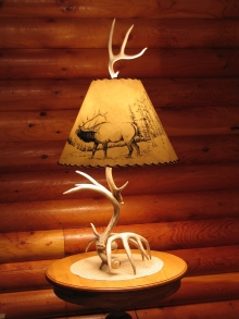 <h5>Whitetail Antler Lamp</h5>
