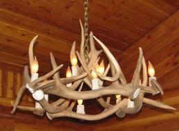 <h5>Elk Antler Chandelier</h5>