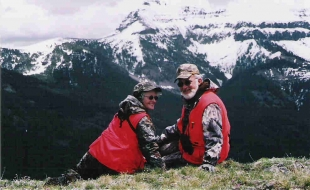 <h5>Bear Hunting</br>in the High Country</br>Ron & Ruth Bouma 2004 </h5>