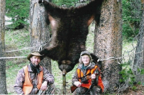 <h5>Ruth's Bear Rug</br>with guide, Randy  </h5>