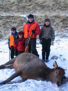 <h5>2004</br>Dena's 1st Elk</h5><p>Zander's 1st Elk Hunt</p>