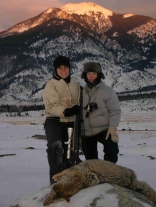 <h5>2006</br>Zach called in a coyote for Dena!</h5>