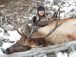 <h5>2011</br>Zander's 1st Elk!</h5>