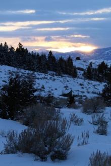 <h5>Winter sunset</h5>