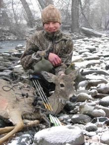 <h5>2009</br>Zane's 1st Archery Deer</h5>