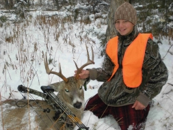 <h5>2009</br>Zane's 1st Archery Buck</br>4x4 Whitetail</h5>