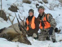<h5>2008</br>Zane's 1st elk!</h5>