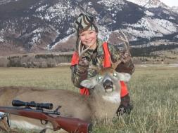 <h5>2011</br>Katie Ellig's 1st Buck!</h5><p>Bozeman, MT</br> 11/23/2011</p>