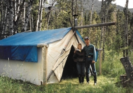 <h5>1990</br>Randy and Dena</br></h5><p>The beginning of many years of successful archery hunting!</p>