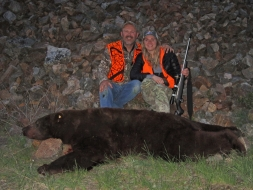 <h5>Katie with Dad, Jeff</h5><p>MT Record Book Boar</p>