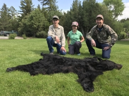 <h5>Nate w/ sister Nell and father Joe</h5><p>Jet Black Boar</p>